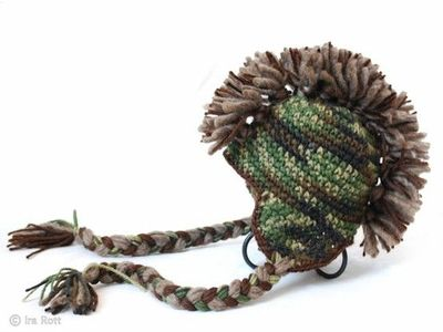 Crochet hat  camo mohawk   crochet ideas and tips - Juxtapost 04f56e734b8
