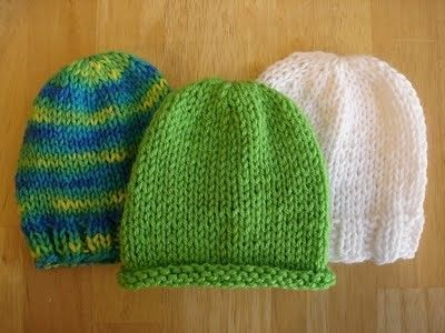 Knit Hat Pattern On Straight Needles : nicu/preemie hat that is knit on straight needles / Knits and stitch - Juxtapost