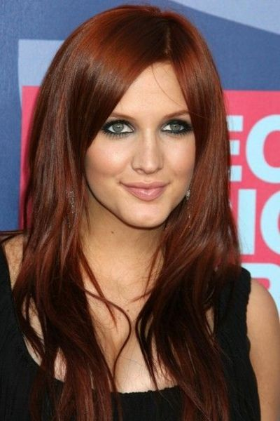 Auburn brown hair color / hair tips - Juxtapost