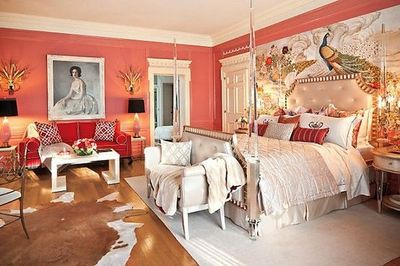 And here is the end result! Mrs. Doheny's bedroom. Greystone Mansion -- Maison de Luxe showcase house. By my firm W&R;.