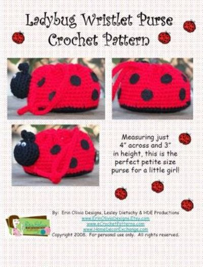 LADYBUG WRISTLET PURSE FREE CROCHET PATTERN / crochet ideas and tips ...