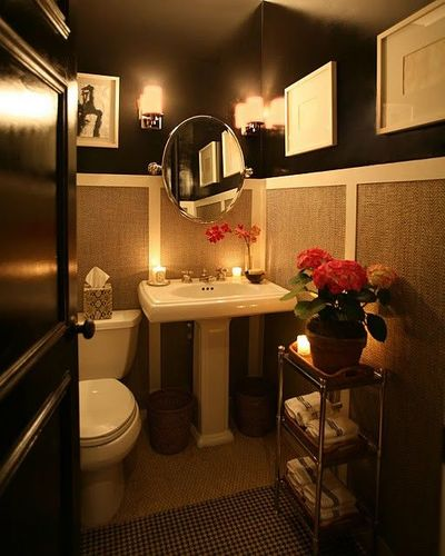 Dramatic half bath bath ideas juxtapost Half bath ideas