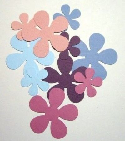 Cut out flower shapes use edge punches on edges of flowers cut out flower shapes use edge punches on edges of flowers and mightylinksfo