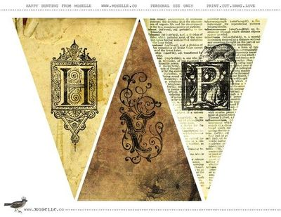 image about Free Printable Ephemera named Free of charge printable bunting: ebook internet pages, basic ephemera