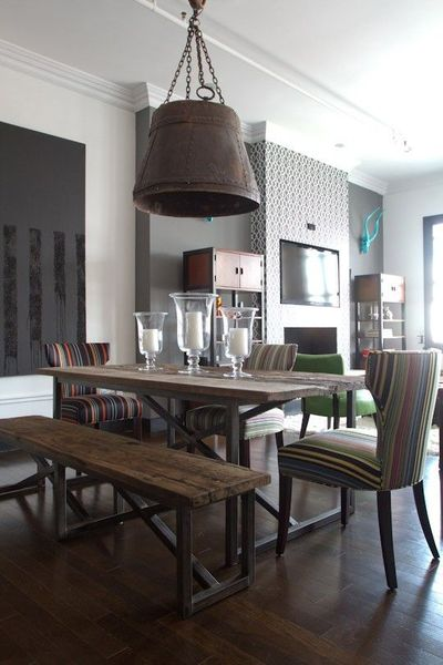 picnic style dining table for my kitchen juxtapost. Black Bedroom Furniture Sets. Home Design Ideas