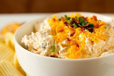 Loaded Baked Potato Dip // Brown Eyed Baker