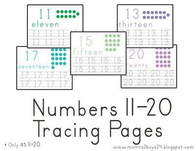 Tracing Numbers 1-20 Worksheets | ABITLIKETHIS