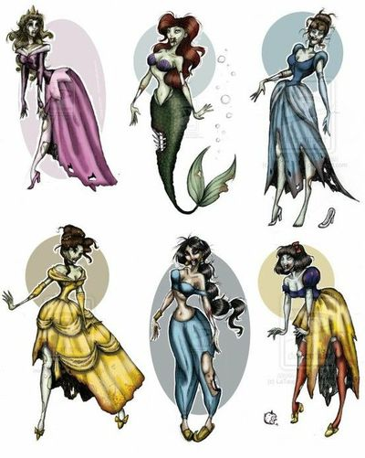 Zombie Disney Princess Tattoos Theme Parks I Love