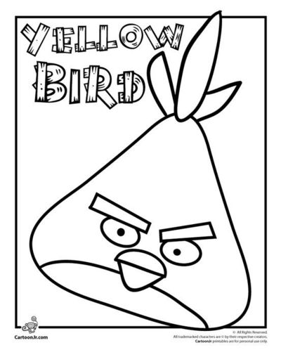 Angry Birds Yellow Bird Coloring Page