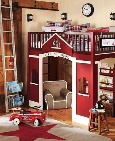 Adorable fire truck boys room / kids rooms - Juxtapost