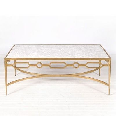 marble and gold leaf coffee table