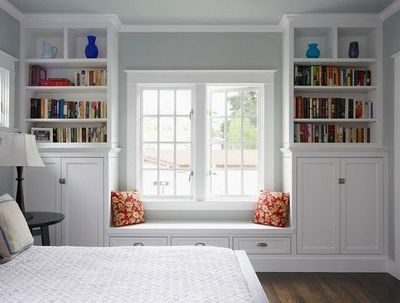 This Bay Window Bookshelf Design Is Awesome