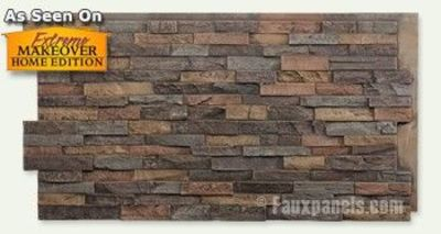 Stone look panels for backsplash, walls, fireplaces, etc.
