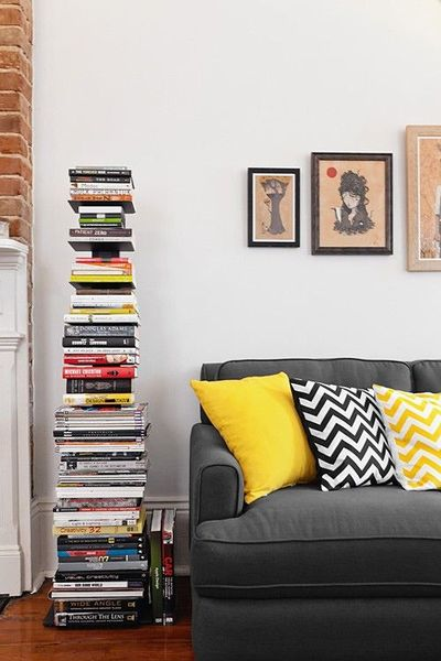 gray sofa chevron pillows in living room for the home juxtapost