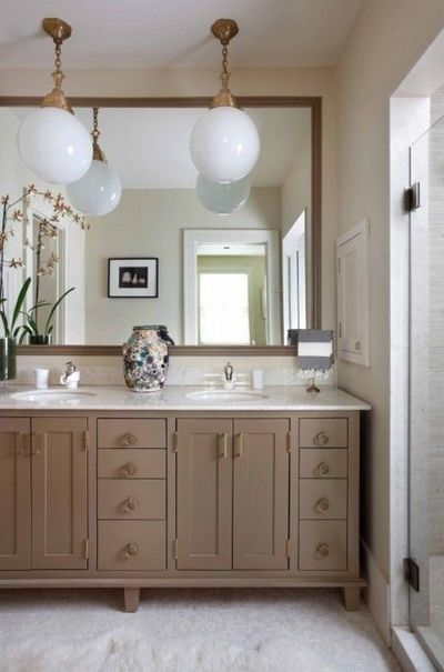 Frame Mirror Paint Cabinets Taupe Change Hardware To