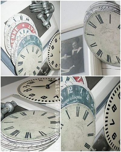 Recycle old CD's with clock face printables