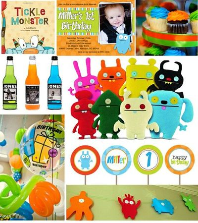 Monster Birthday Party Ideas / babies & things - Juxtapost