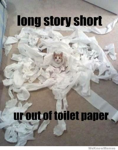 You're out of tp