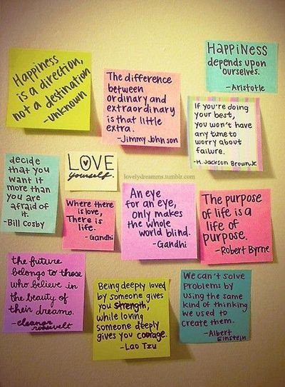 Quotes On Sticky Notes: Sticky Note Quotes / Inspiring Quotes And Sayings
