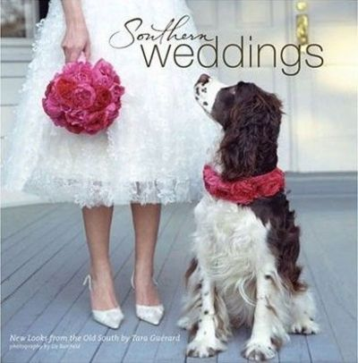 #southern #tea #dress #gown #bride #springer #spaniel #dog #wedding