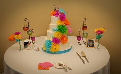 Neon Color Wedding Cake 5000 Simple Wedding Cakes