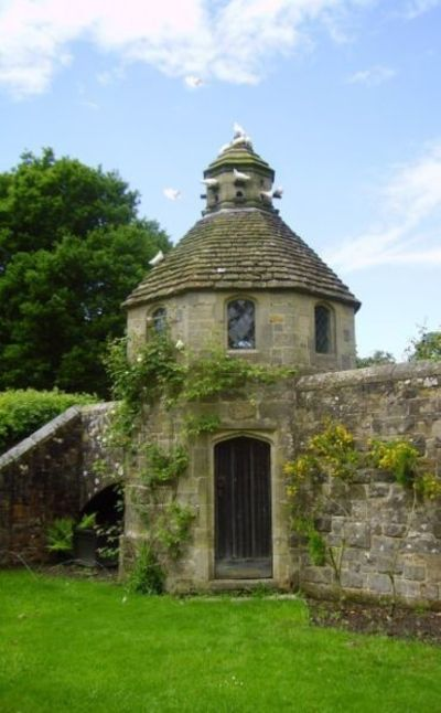 Dovecotes like the one below in Sussex England often housed 500+ doves