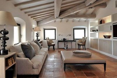 I Like The Sloped Ceiling And Wood Beams For Home