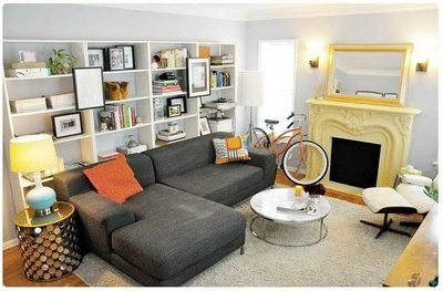 Like The Bookcases Behind The Couch For The Home Juxtapost