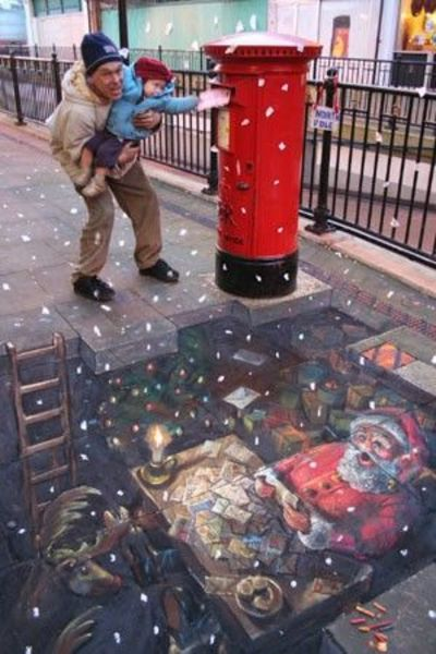 How Santa gets his mail. Love street art!