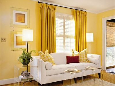 Love The Yellow Curtains On Yellow Walls For The Home