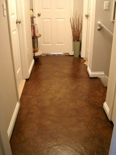 Brown Paper Bag Floors Could Be Used On Walls Funky