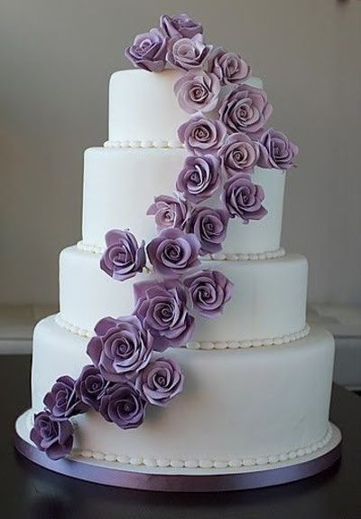 Images Of Purple Wedding Cake : purple rose wedding cake / wedding cakes - Juxtapost