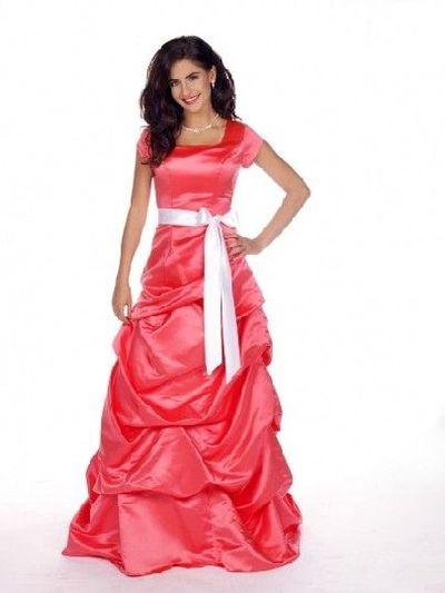Looks familiar only in yellow! modest prom dress websites