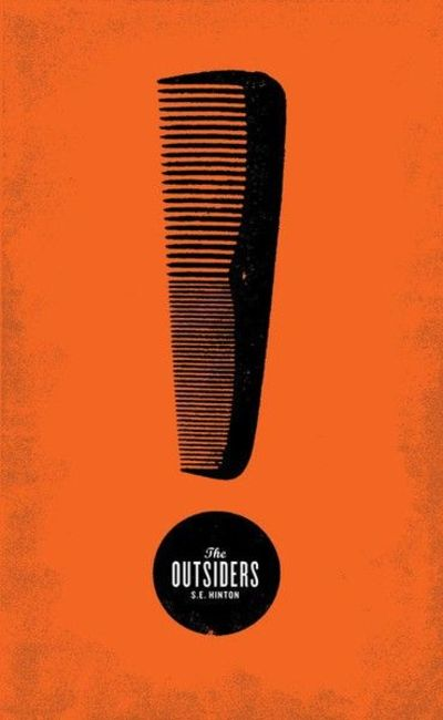 The Outsiders Book Cover Ideas : The outsiders s e hinton book cover design by mikey