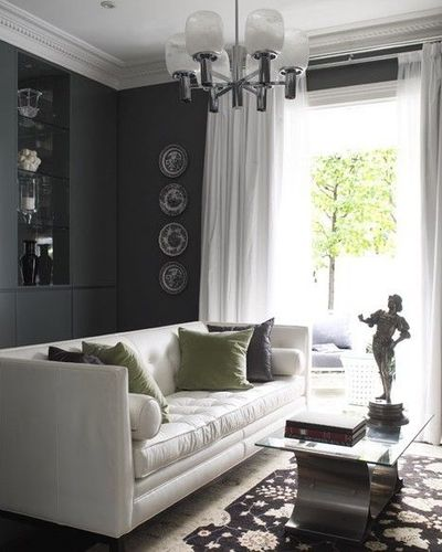 Curtains Ideas black and white panel curtains : crisp white silk drapes curtains, white leather tufted moder ...