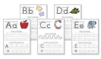 alphabet writing worksheets kids rooms juxtapost. Black Bedroom Furniture Sets. Home Design Ideas