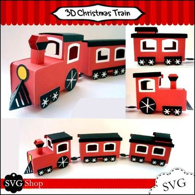 Make Christmas Special With This 3d Christmas Train Use It