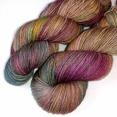 Glimmer SW Merino and Nylon Fingering Yarn Soft by JulieSpins,