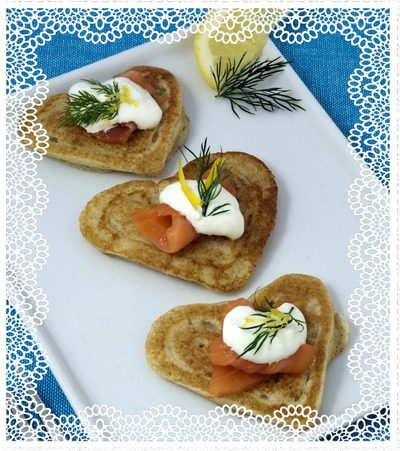 Heart Shaped Blinis - Make Ahead Appetizers for Valentines Day