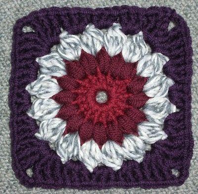 Free Crochet Granny Square Clothing Patterns : Free Crochet Sun burst Granny Square Pattern. / crochet ...