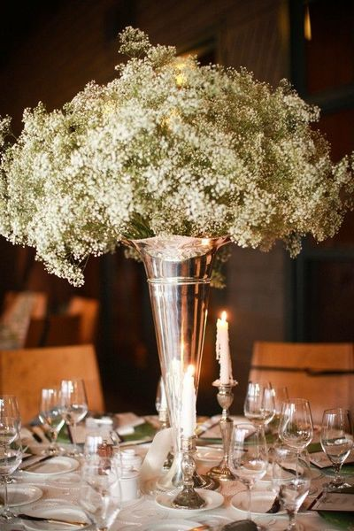 Baby S Breath Centerpiece Beautiful Ann Graham Floral