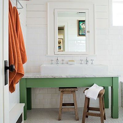 Farmhouse Bath House Bathroom Sink On Green Bath Ideas Juxtapost