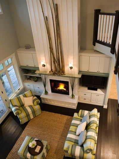 20 Living Room With Fireplace That Will Warm You All: Beside Fireplace For Tv / For The Home