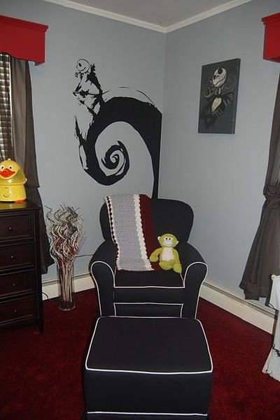 gallery for nightmare before christmas room theme