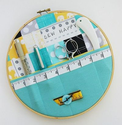 Sewing storage hoop ... oh the cute!!!
