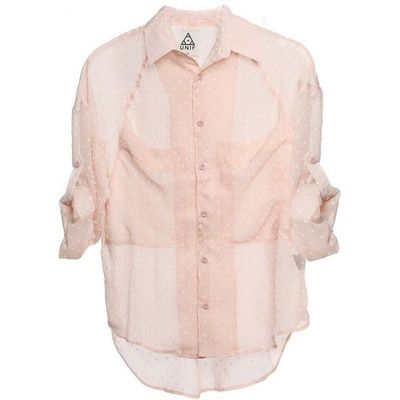 Sheet Pink Button Down Shirt Womens Apparel Juxtapost