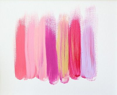 Pink And Purple Paint Strokes Art Painting