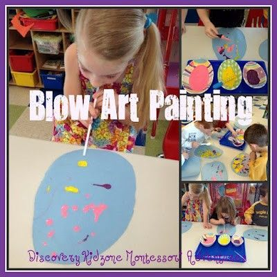 Blow art Easter eggs. Fun, no prep, frugal art