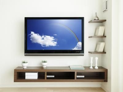 floating shelf for cable box, dvd player, etc. / For the home