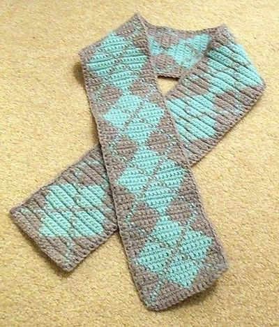 Knit Argyle Pattern : ARGYLE SCARF KNITTING PATTERN - Free Patterns